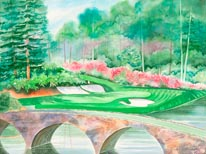 Augusta National 12th Hole mural