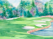 Cherokee Town  Country Club mural