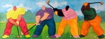Big Boy Golf I mural