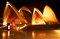 Sydney Opera House At Night mural