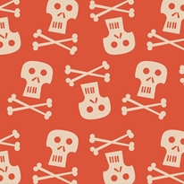 Pirates Skulls mural