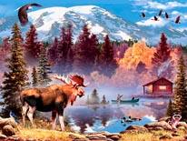 Moose Full mural