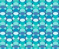 Overlap - Blue mural