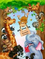 Animal Laughs 2 mural