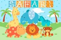 Baby Safari - Boy mural