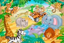 Safari Adventure mural