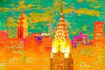 Skyline NY mural