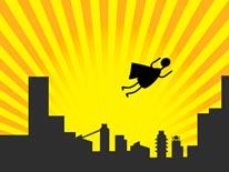 Superhero Flies mural