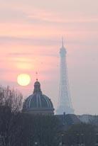 Paris Sunset I mural