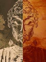 Buddhas-Orange mural