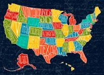 Map USA mural