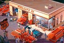 Phillips 66 - 50's mural