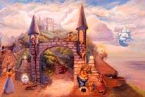 Fairy Tale Castle mural