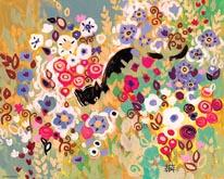 Black Cat Garden mural