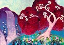 Crimson King Falls mural