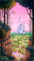 Fantasy Castle mural