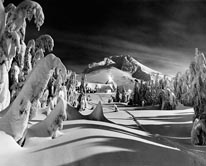 Timberline Lodge  Mt Hood by Moonlight mural