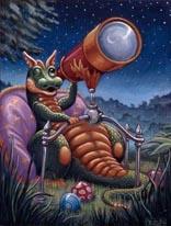 Stargazing mural