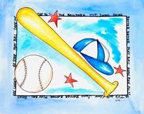 Baseball Bowman mural
