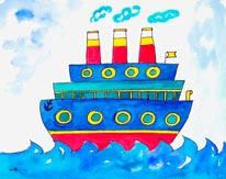 Ocean Liner mural