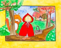 Little Red Riding Hood mural