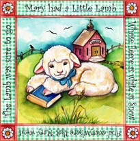 Mary Had A Little Lamb mural