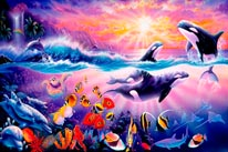 Tropical Treasures - Orcas mural
