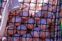 Baseballs mural