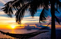 Sunset Over Moorea French Polynesia 2 mural