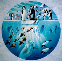 Penguins Playground mural