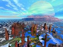 Jupiter Rising mural