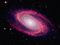 Galaxy Messier 81 mural