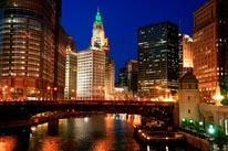 Chicago River-Night mural