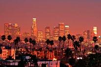 Los Angeles Skyline mural