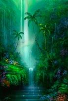 Emerald Falls mural