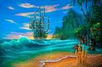 Fantasy Beach mural