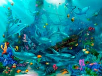 Dolphin Dance Miller mural