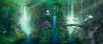 Waterfall Fantasy mural