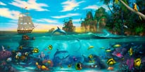 Paradise Found Vinyl Wall Decal mural