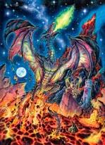 Lava Dragon mural