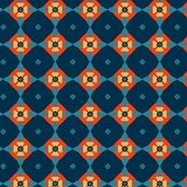 Pinwheel - Blue mural