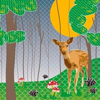 Deer Forest Marzipan Inc  mural