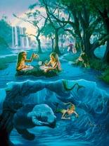 Mermaids Tea Party mural