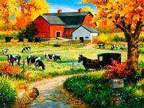 Amish Red Barn mural