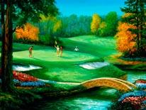 Golf Scenes Putting mural