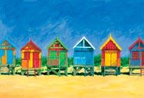 Beach Huts mural