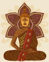 Sitting Buddha mural