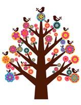 Tree of Flowers mural