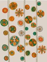 Folk Pattern - Stripe mural