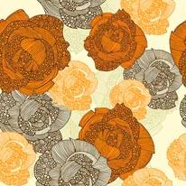 Orange Roses mural
